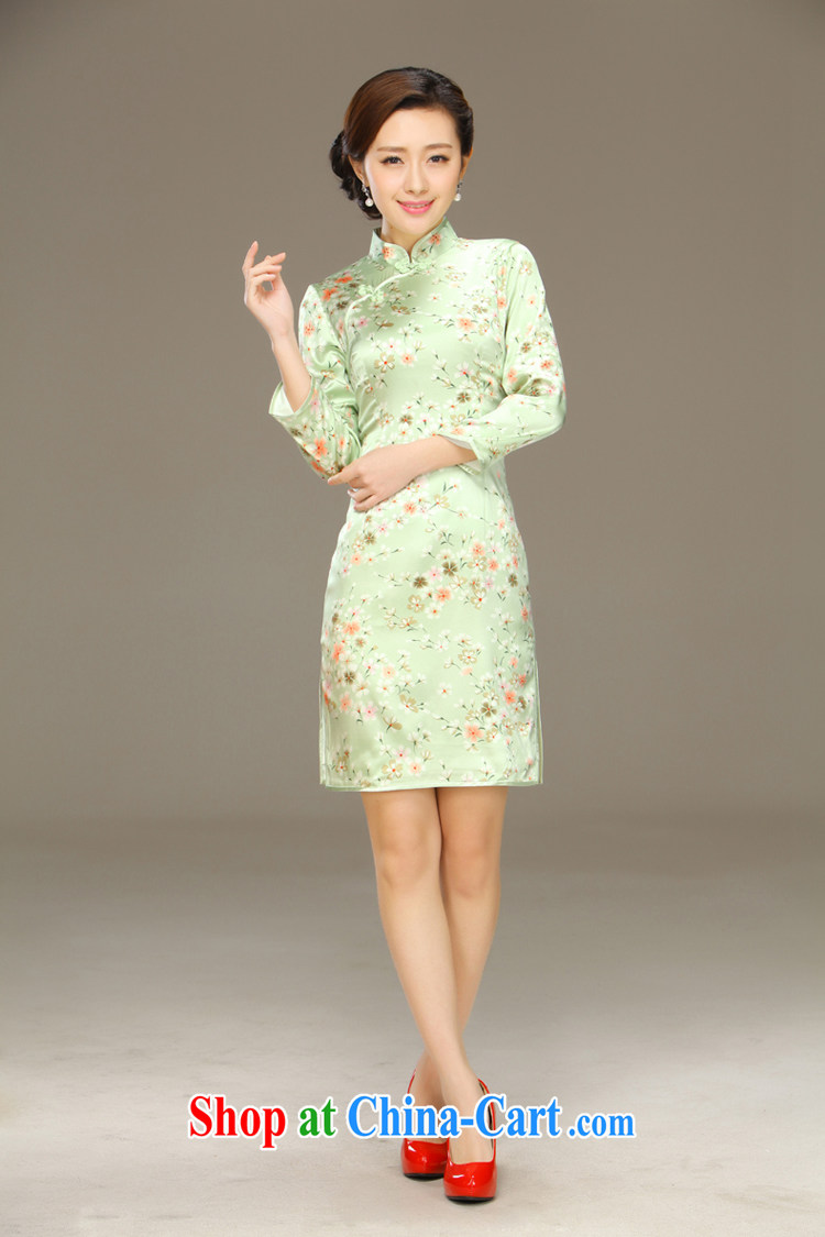 Slim li know, butterfly 2015 spring and summer new stylish and improved cultivation retro long Silk Cheongsam dress QLZ Q 15 6001 Butterfly Lovers XXL pictures, price, brand platters! Elections are good character, the national distribution, so why buy now enjoy more preferential! Health