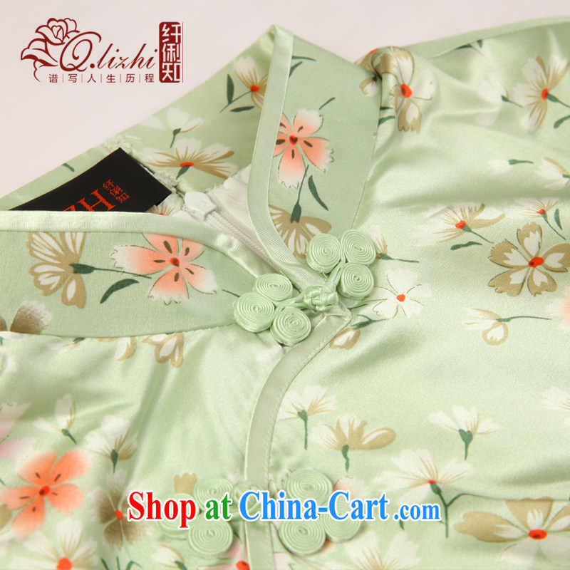 Slim li know, butterfly 2015 spring and summer new stylish and improved cultivation retro long Silk Cheongsam dress QLZ Q 15 6001 Butterfly Lovers XXL, slim Li (Q . LIZHI), online shopping