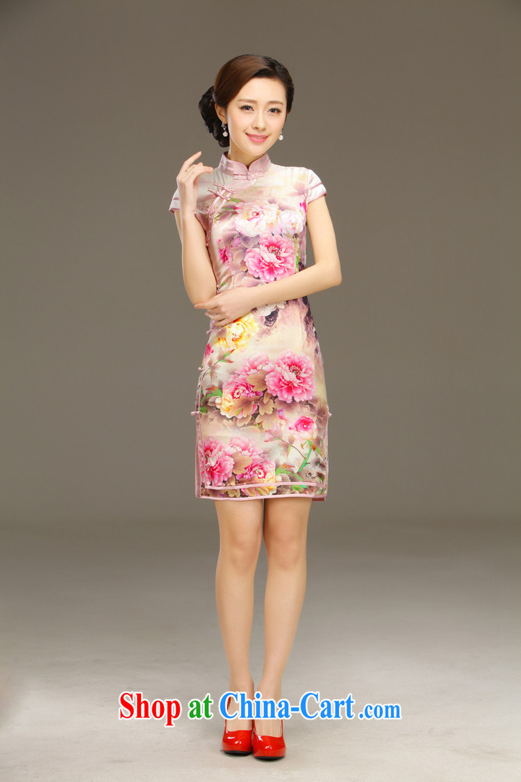 Slim li know zipping by summer 2015 new retro elegant refined and stylish everyday silk sauna silk short cheongsam QLZ Q 15 6003 zipping by L pre-sale 5 Days pictures, price, brand platters! Elections are good character, the national distribution, so why buy now enjoy more preferential! Health