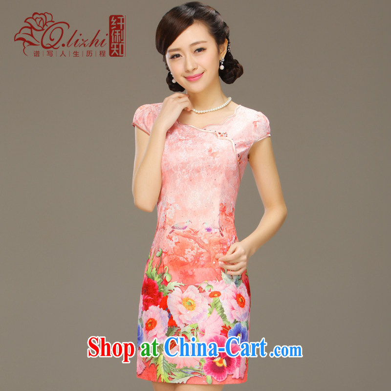Slim li know glass dream 2015 spring and summer new stylish dresses girls lace short-sleeve beauty package and cheongsam dress QLZ Q 15 6018 glass dream - Bosnia and Herzegovina XXL, former Yugoslavia, Li (Q . LIZHI), online shopping