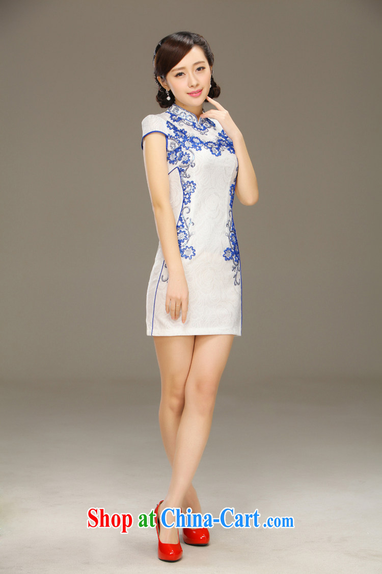 Slim li know flow screen summer 2015 classic improved stylish retro beauty graphics thin short cheongsam dress QLZ Q 15 6041 screen flow XXL pictures, price, brand platters! Elections are good character, the national distribution, so why buy now enjoy more preferential! Health