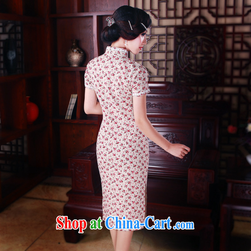 Unwind after the 2015 spring cheongsam dress daily fashion improved retro long cotton robes the commission 5015 fancy XXL sporting, wind, shopping on the Internet