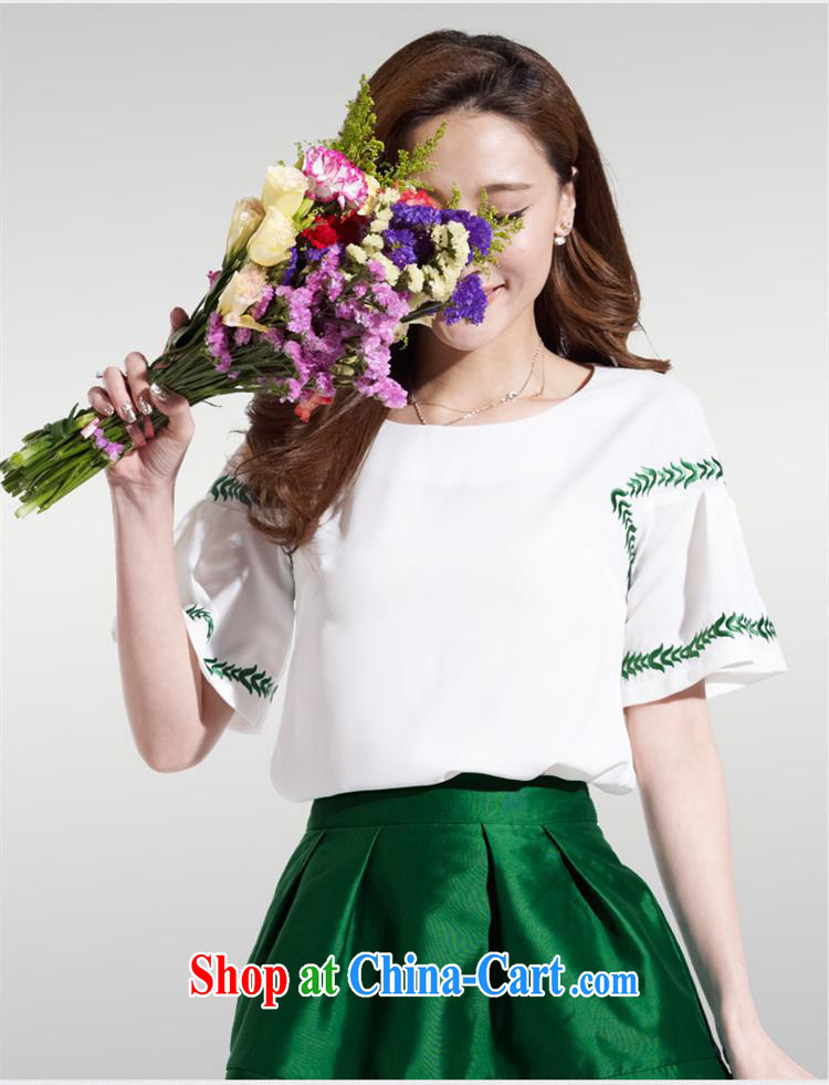 Ya-ting store 2015 Korean version of the new paragraph 100 cultivating a doll style graphics thin female short-sleeved snow woven embroidery t-shirt 85,050 red XL pictures, price, brand platters! Elections are good character, the national distribution, so why buy now enjoy more preferential! Health