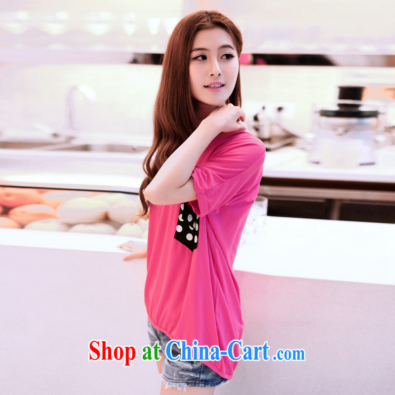 Qin Qing store 2015 summer New Beauty won t-shirts in long-neck solid T-shirt short-sleeved cotton shirt T female black nrww 907 are code