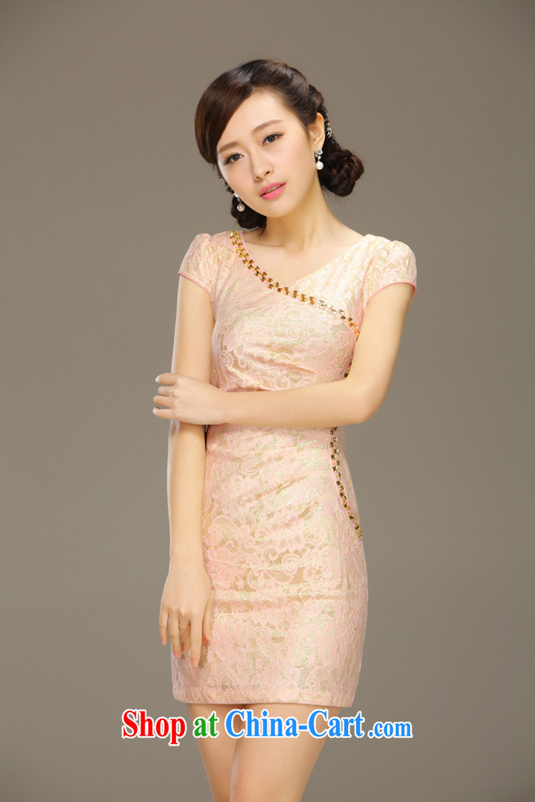 Slim li know dance with cheongsam dress stylish summer improved short daily retro beauty lace summer dress girls QLZ Q 15 6024 dance with XXL pictures, price, brand platters! Elections are good character, the national distribution, so why buy now enjoy more preferential! Health