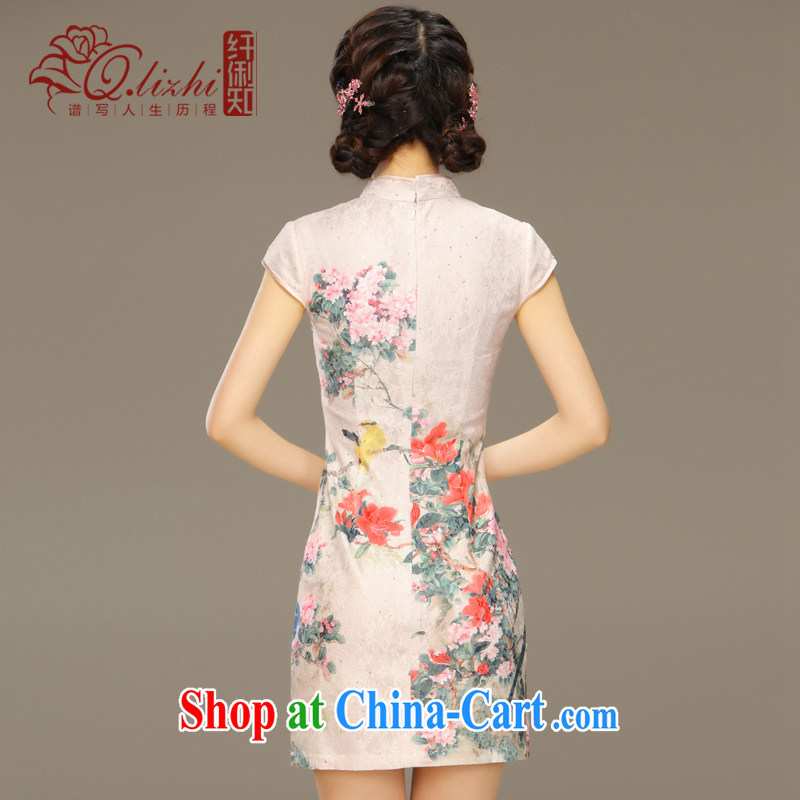 Slim li know dance fall 2015 spring and summer new retro improved stylish daily short-sleeve dresses style dresses QLZ Q 15 6027 Dance Off XXL, slim Li (Q . LIZHI), online shopping