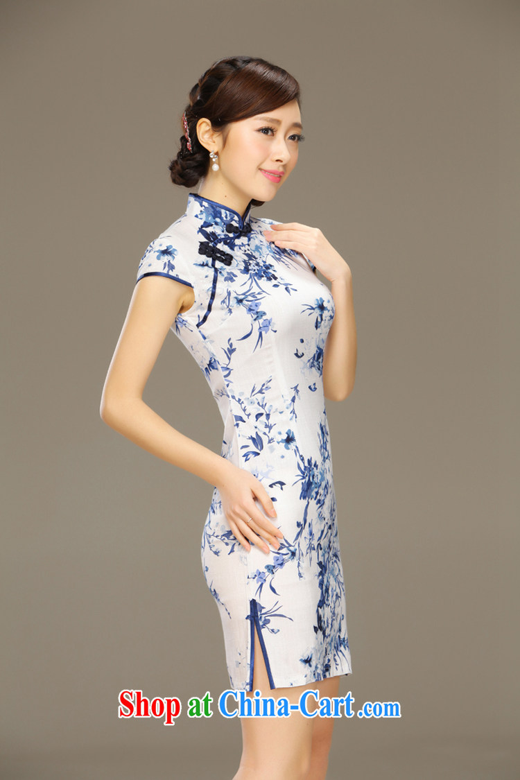 Slim li know smoke sponsors summer New Beauty antique porcelain was qipao cotton Ma improved stylish summer day dresses QLZ Q 15 6029 tobacco sponsors XXL pictures, price, brand platters! Elections are good character, the national distribution, so why buy now enjoy more preferential! Health
