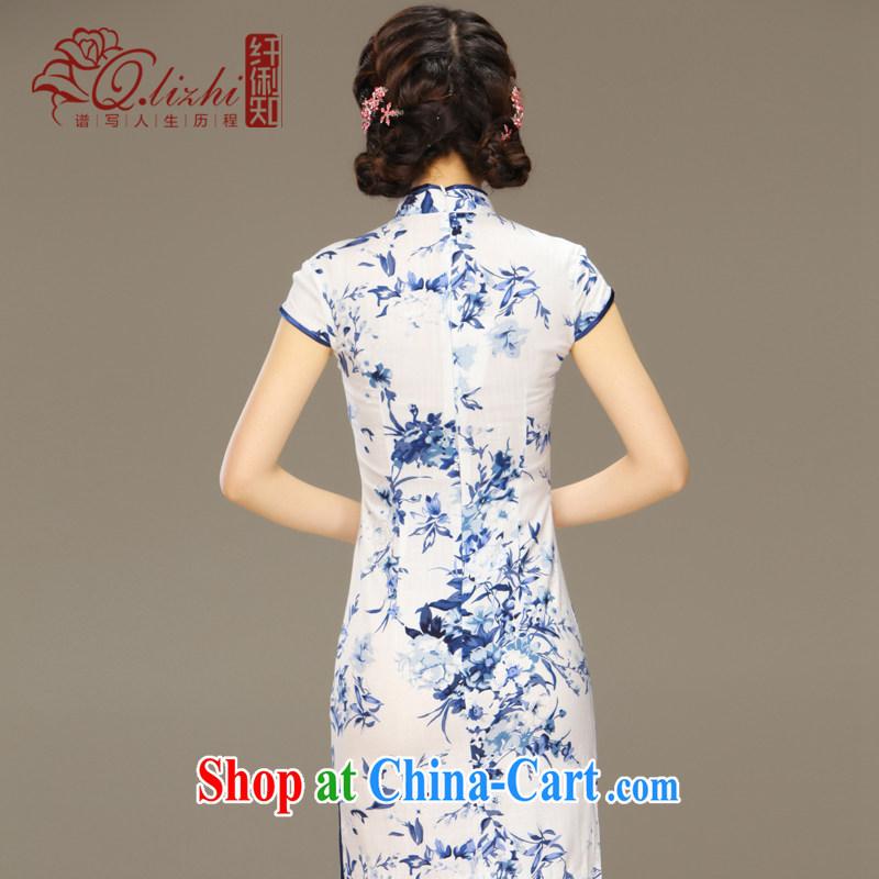 Slim li know smoke sponsors summer New Beauty antique porcelain was cotton robes the improvement and stylish summer day dresses QLZ Q 15 6029 tobacco sponsors XXL, slim Li (Q . LIZHI), online shopping