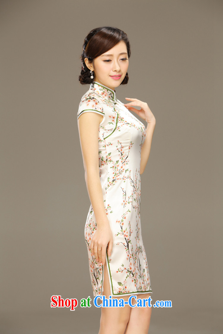 Slim li know tolerance if double heavy sauna silk Silk Cheongsam dress upscale retro improved short cheongsam dress QLZ Q 15 6030 fault tolerance if XXL pictures, price, brand platters! Elections are good character, the national distribution, so why buy now enjoy more preferential! Health