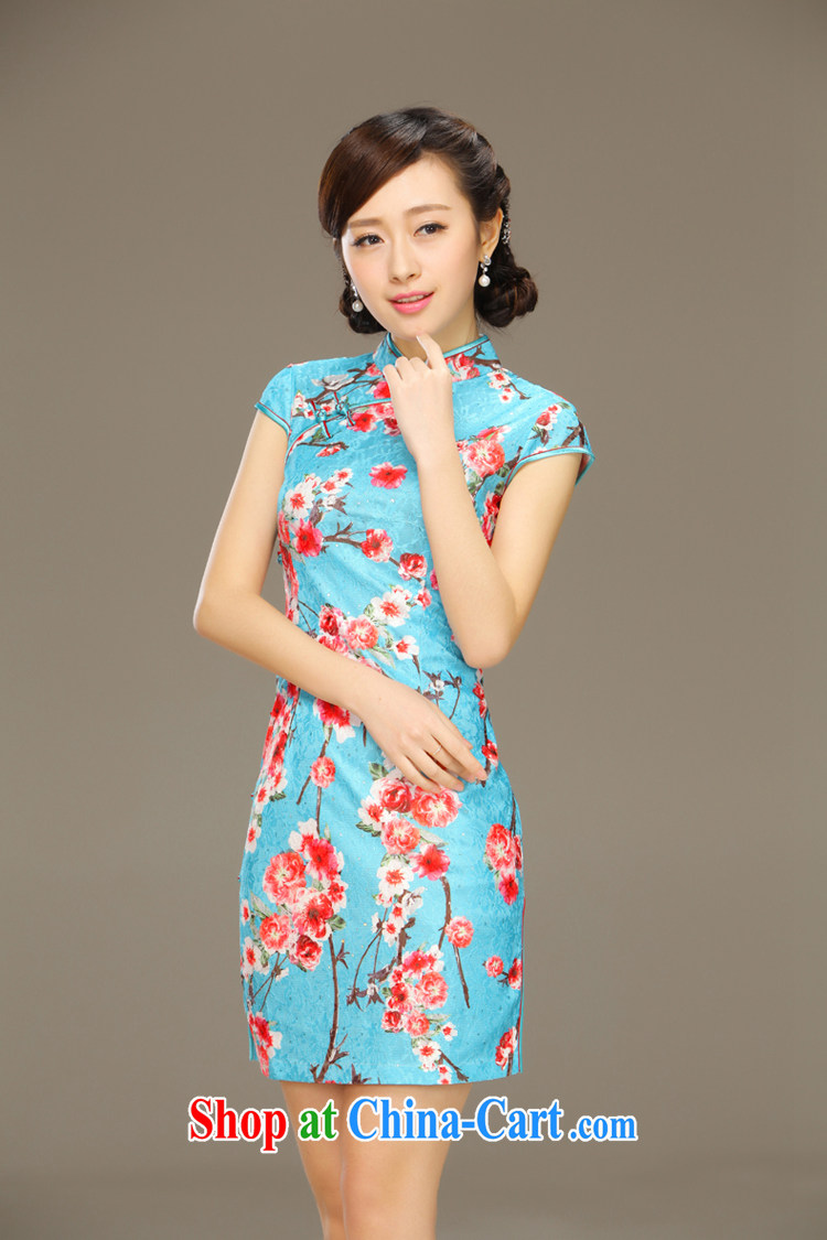 Slim li know that Zhang Qinsheng blue spring summer short dresses improved cultivation daily dress Stylish retro dresses QLZ Q 15 6031 Zhang Qinsheng blue XXL pictures, price, brand platters! Elections are good character, the national distribution, so why buy now enjoy more preferential! Health