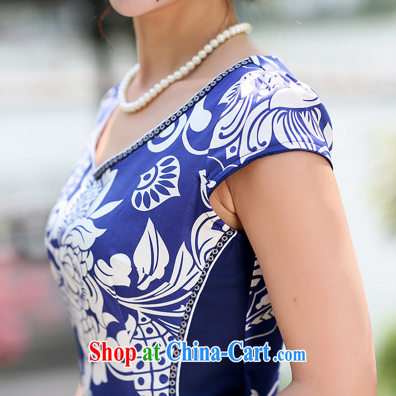 Jin Bai Lai new cheongsam dress improved summer 2015 ladies stamp duty high-end stylish dresses cultivating Chinese Dress 4 XL, pure Bai Lai (C . Z . BAILEE), shopping on the Internet