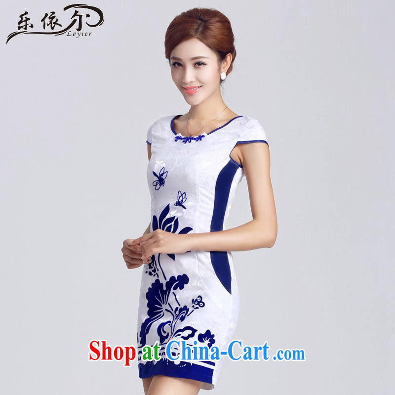 And, in accordance with female qipao improved lady short cheongsam dress elegant classic daily LYE 33,302 white XXL