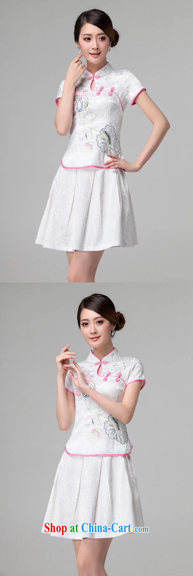 kam beauty new beauty routine retro improved stylish outfit two piece kit M 3068 white S pictures, price, brand platters! Elections are good character, the national distribution, so why buy now enjoy more preferential! Health