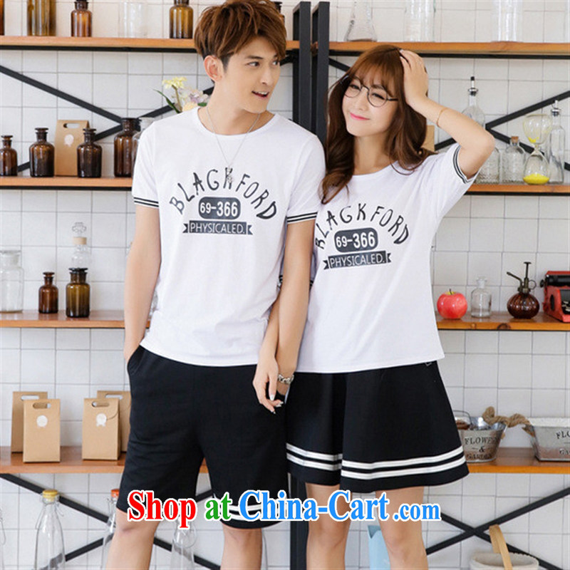 Qin Qing store 2015 summer new liberal bat shirt female Korean couples half sleeve shirt T only white male XL
