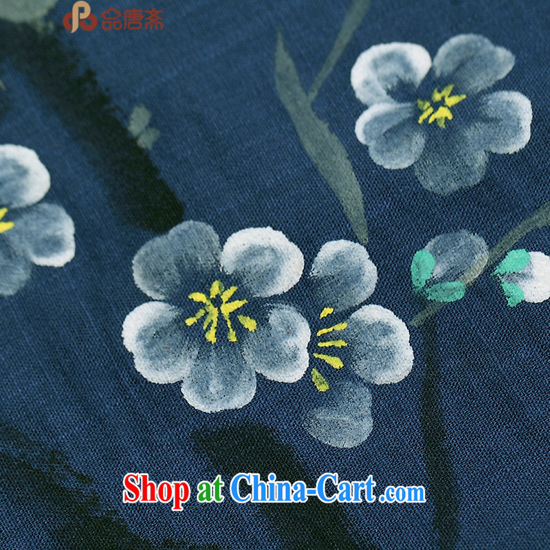 Mr Henry Tang, Id al-Fitr tang on China wind long-sleeved original spring new female retro T-shirt improved Han-blue M, Tang ID al-Fitr, shopping on the Internet