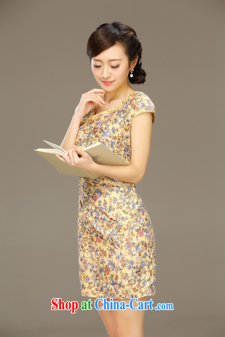 Slim li know 玹. China wind stamp cheongsam dress 2015 summer new retro cheongsam dress 15 QLZ Q 玹 6033. XXL pictures, price, brand platters! Elections are good character, the national distribution, so why buy now enjoy more preferential! Health