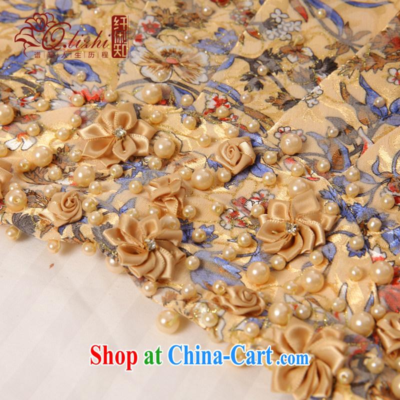 Slim li know 玹. China wind stamp cheongsam dress 2015 summer new retro dresses dresses QLZ 15 Q 玹 6033. XXL, slim Li (Q . LIZHI), online shopping
