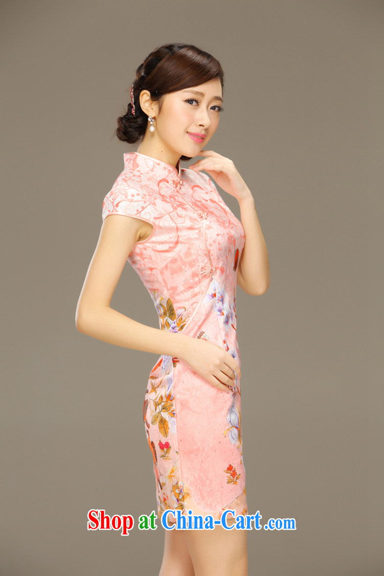 Slim Li aware of sticky notes stamp lace cheongsam dress summer short, beauty and stylish retro package and dresses female QLZ Q 15 6034 pixel pad XXL pictures, price, brand platters! Elections are good character, the national distribution, so why buy now enjoy more preferential! Health