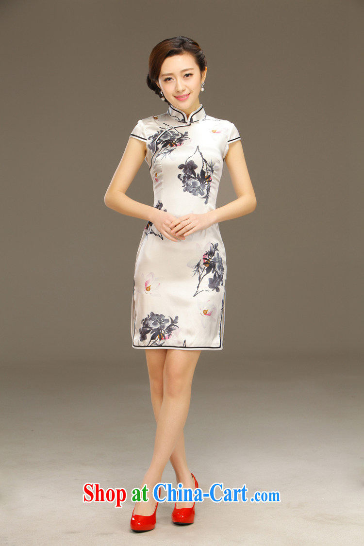 Slim LI knows the dyeing silk short cheongsam dress new summer retro daily improved dress Cultivating Female sauna silk QLZ Q 15 6036 white XXL pictures, price, brand platters! Elections are good character, the national distribution, so why buy now enjoy more preferential! Health