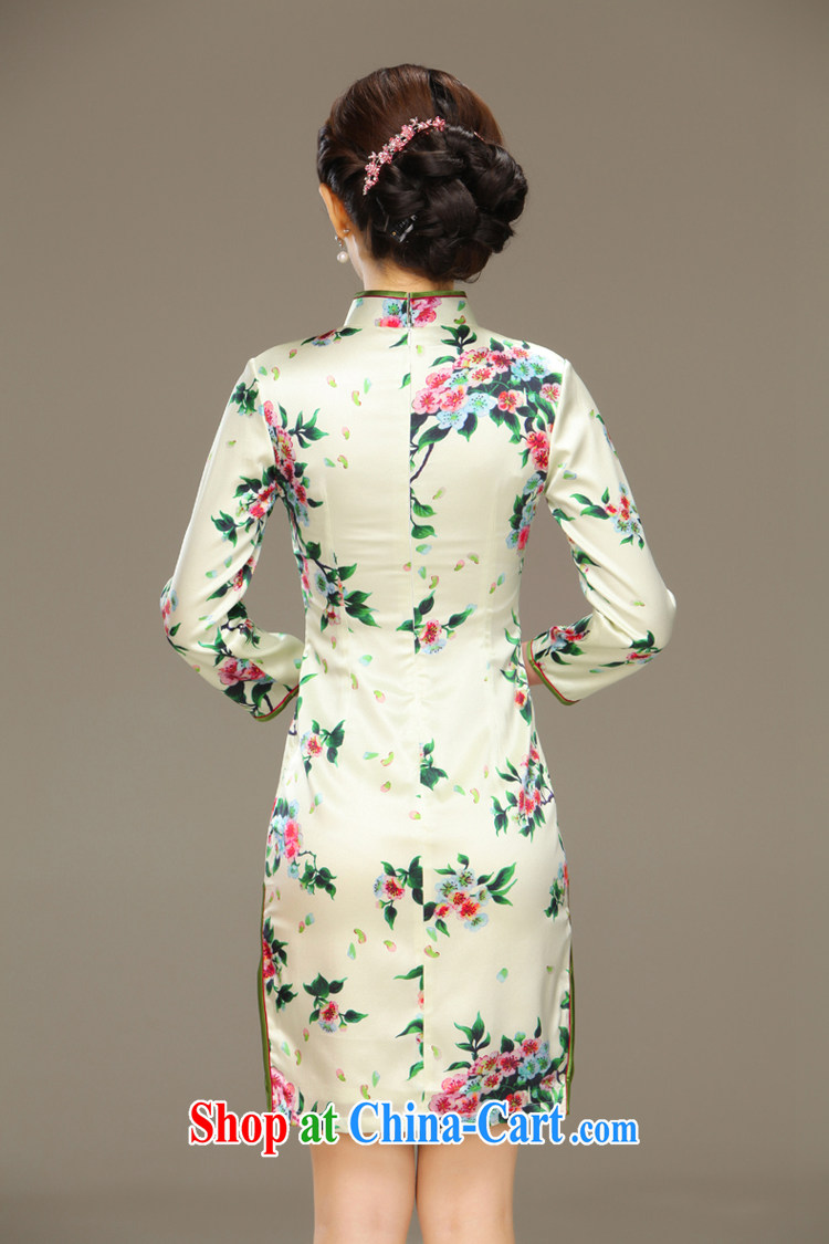 Slim li know that compassion acajou (summer 2015 new stylish and improved cultivation cheongsam dress retro long Silk Cheongsam QLZ Q 15 6037 green聽XXL pictures, price, brand platters! Elections are good character, the national distribution, so why buy now enjoy more preferential! Health