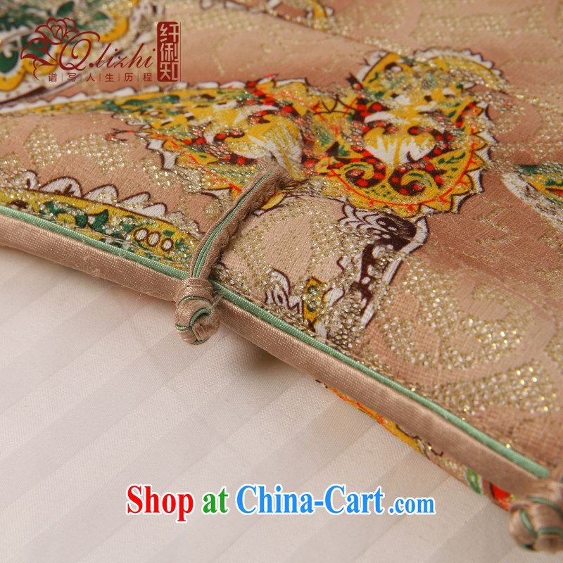 Slim LI knows his day off cheongsam dress improved stylish summer 2015 new lace dress cheongsam beauty QLZ Q 15 6039 picture color XXL, slim Li (Q . LIZHI), online shopping