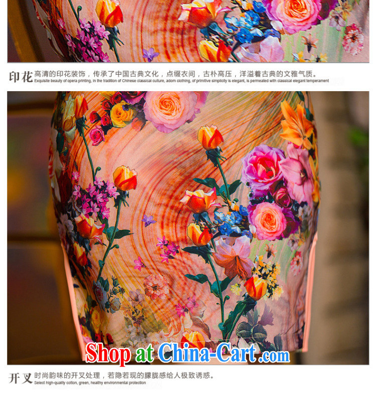 5 the sense of beauty and idyllic cheongsam dress 2015 China wind National wind dress roses WGT 154 photo color XXL pictures, price, brand platters! Elections are good character, the national distribution, so why buy now enjoy more preferential! Health