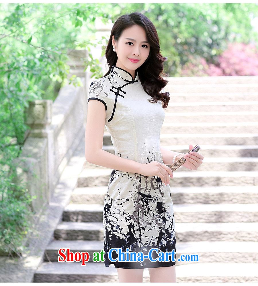 XUAN FENG 2015 summer new Korean Beauty graphics thin linen painting improved cheongsam dress XXL painting pictures, price, brand platters! Elections are good character, the national distribution, so why buy now enjoy more preferential! Health