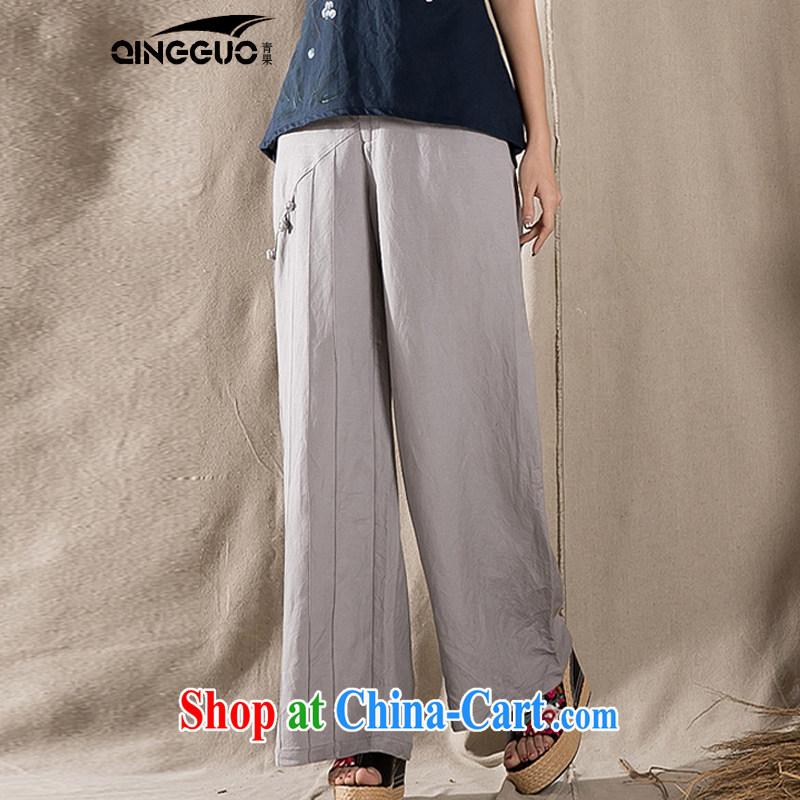 Green fruit 2015 retro China wind cotton the Chinese children, trouser press with original design arts, ethnic Wind Light Gray XL