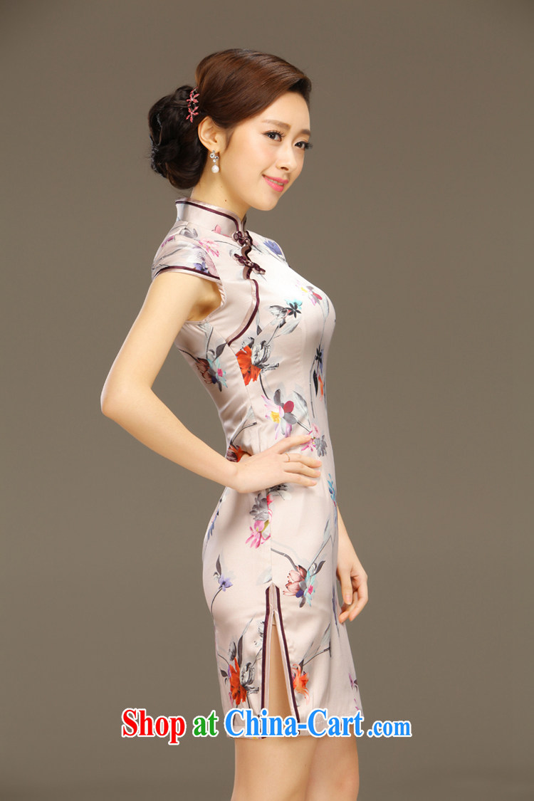 Slim li know overnight world Silk Cheongsam dress new summer retro dresses short daily improved dress beauty workshops QLZ Q 15 6044 world overnight XXL pictures, price, brand platters! Elections are good character, the national distribution, so why buy now enjoy more preferential! Health