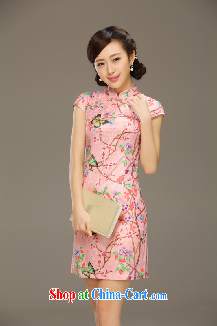 Slim li know Butterfly in summer 2015 new stylish dresses girls retro lace short-sleeved beauty package and cheongsam dress QLZ Q 15 6045 butterfly by - Jade toner XXL pictures, price, brand platters! Elections are good character, the national distribution, so why buy now enjoy more preferential! Health
