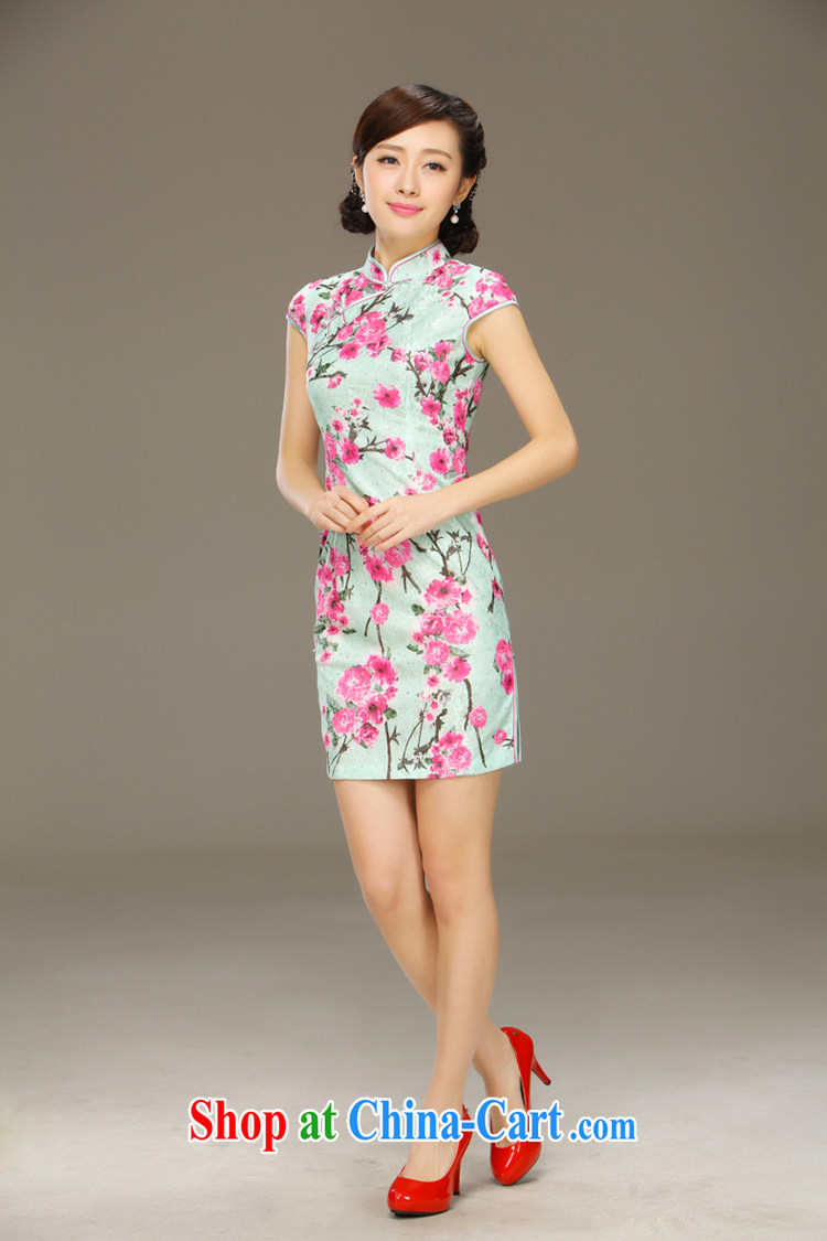 Slim li know Hong Kong chant new spring and summer short dresses improved cultivating everyday dress Stylish retro dresses QLZ Q 15 6046 Hong Kong chant XXL pictures, price, brand platters! Elections are good character, the national distribution, so why buy now enjoy more preferential! Health