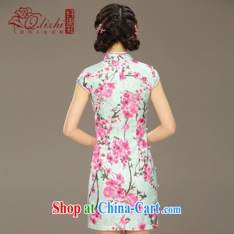 Slim li know Hong Kong chant New Spring Summer short dresses improved cultivation daily dress Stylish retro dresses QLZ Q 15 6046 Hong Kong XXL verse, slim Li (Q . LIZHI), online shopping