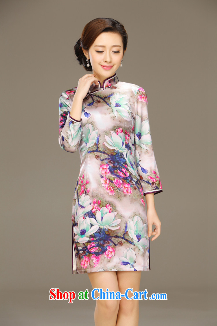 Slim li know dyeing, silk cheongsam dress new summer retro dresses short daily improved dress beauty workshops QLZ Q 15 6048 dye and XXL pictures, price, brand platters! Elections are good character, the national distribution, so why buy now enjoy more preferential! Health