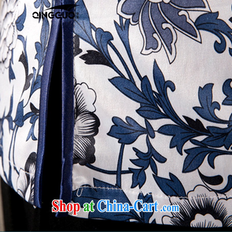 2015 spring and summer new Ethnic Wind Chinese improved cheongsam shirt cultivating cotton Ms. Yau Ma Tei Tong with fancy XXL, fruit (QINGGUO), shopping on the Internet