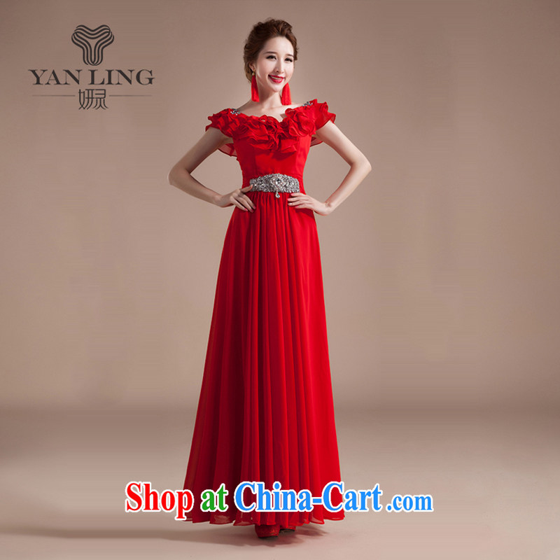 Her spirit new Summer, Autumn 2015 Korean flouncing larger female Red Snow woven dresses long dresses XXL