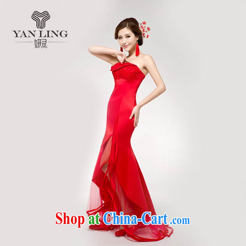 Bridal wedding dresses wedding dresses Chinese improved the Short long after serving toast red outfit retro long XL