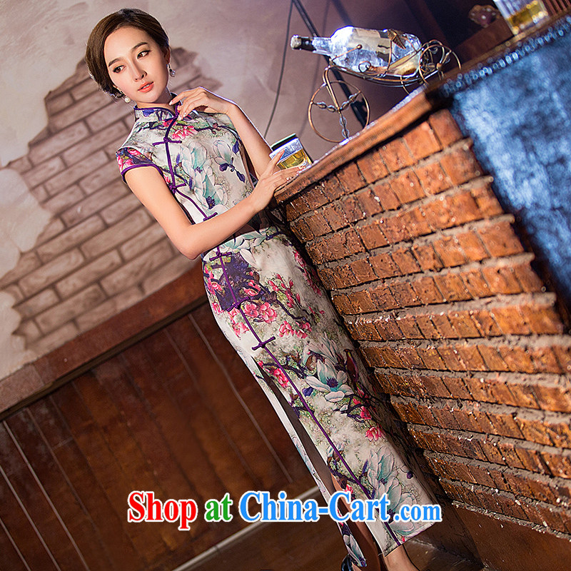 Love spell Fort Lauderdale 2015 new summer long sleek beauty emulation, Elegance high on the truck cheongsam picture color L (90 /72 / 94)