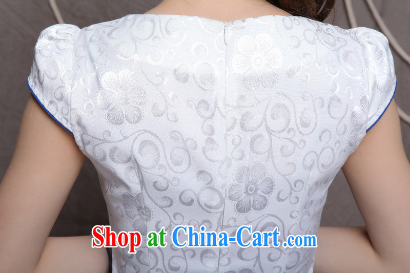Chow honey honey 2015 new embroidery cheongsam ethnic wind and stylish Chinese qipao dress beauty graphics build cheongsam FF A - 033 - 9906 blue XL pictures, price, brand platters! Elections are good character, the national distribution, so why buy now enjoy more preferential! Health