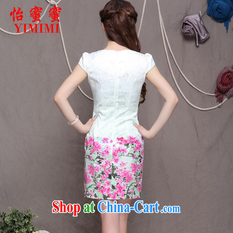 Chow honey honey 2015 new embroidery cheongsam ethnic wind and stylish Chinese qipao dress beauty graphics build cheongsam FF A - 033 - 9906 blue XL, Selina CHOW honey honey (YIMIMI), online shopping