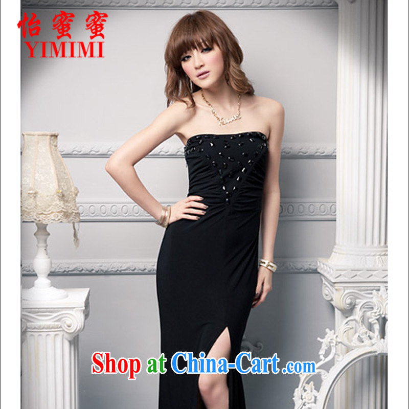 Selina Chow honey honey 2015 new female Korean Beauty wrapped chest dress wedding banquet dress JM C - 020 - A, 659 black are code