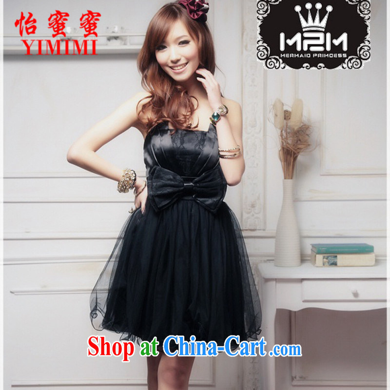 Selina Chow honey honey 2015 elegant wiped his chest large bowtie shaggy Princess small dress XC - 3056 - B _ 1288 A black XL