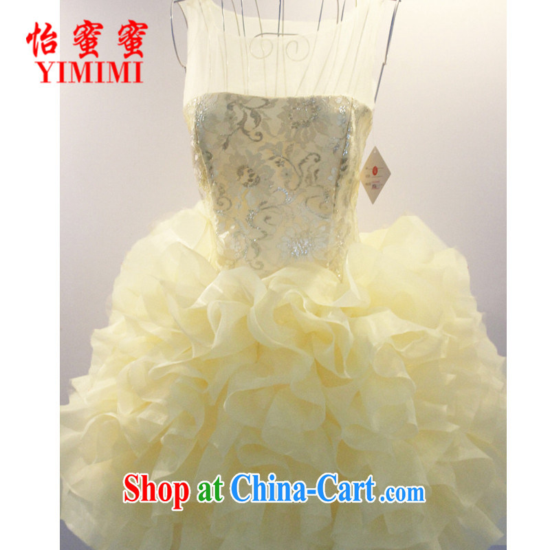 Chow honey honey 2015 new dress flouncing short small dress bridesmaid dress lace costume N - B 11-1, 0926, color code
