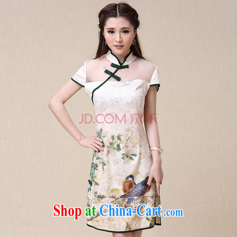 Addis Ababa Van Gogh's poem summer 2015 New China wind national air-cultivating high-end optimization dresses, dresses the color XXL