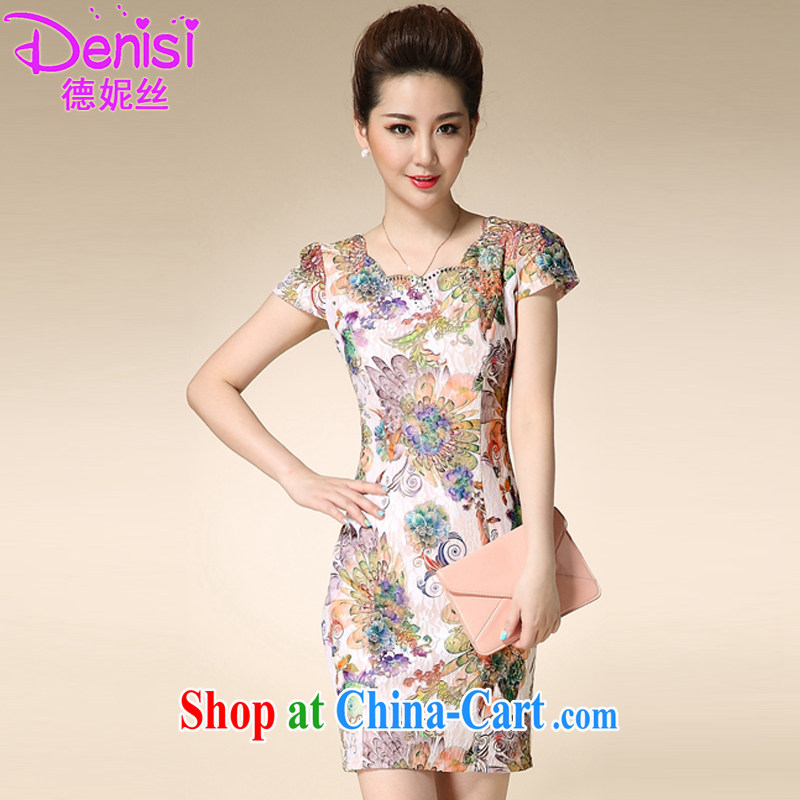 Connie, population 2015, summer lace cheongsam improved stylish beauty retro elegant qipao 8968 #Fung Mei Hua XXXL