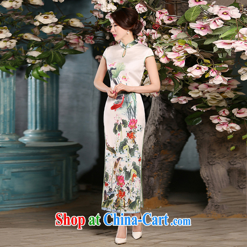 The cross-sectoral From Elizabeth received new long cheongsam summer retro style daily outfit improved female cheongsam dress ZA 304 2 XL