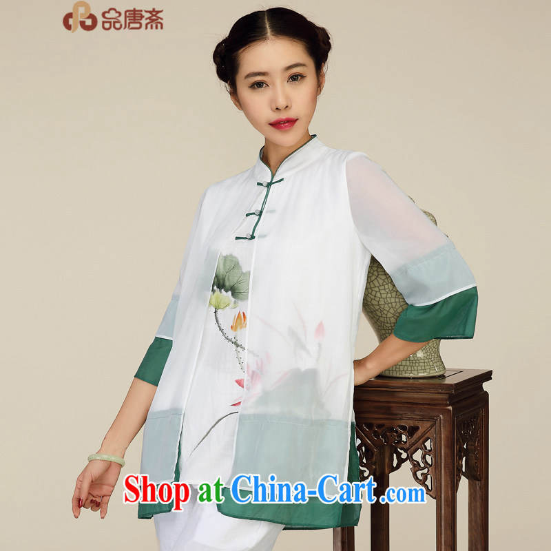 Mr Henry Tang, Id al-Fitr 2015 Chinese summer Ms. load improved the service women Ethnic Wind China wind tea serve pre-sale April 30 white XL