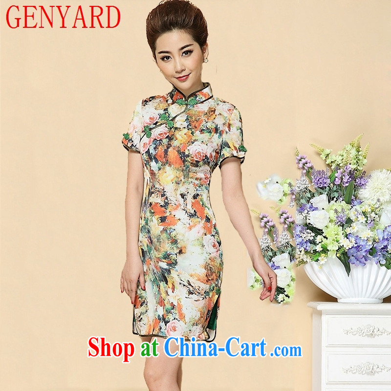 Qin Qing store upscale cheongsam Chinese Chinese style dress 2015 fashion dresses on cultivating cheongsam dress suit XXL