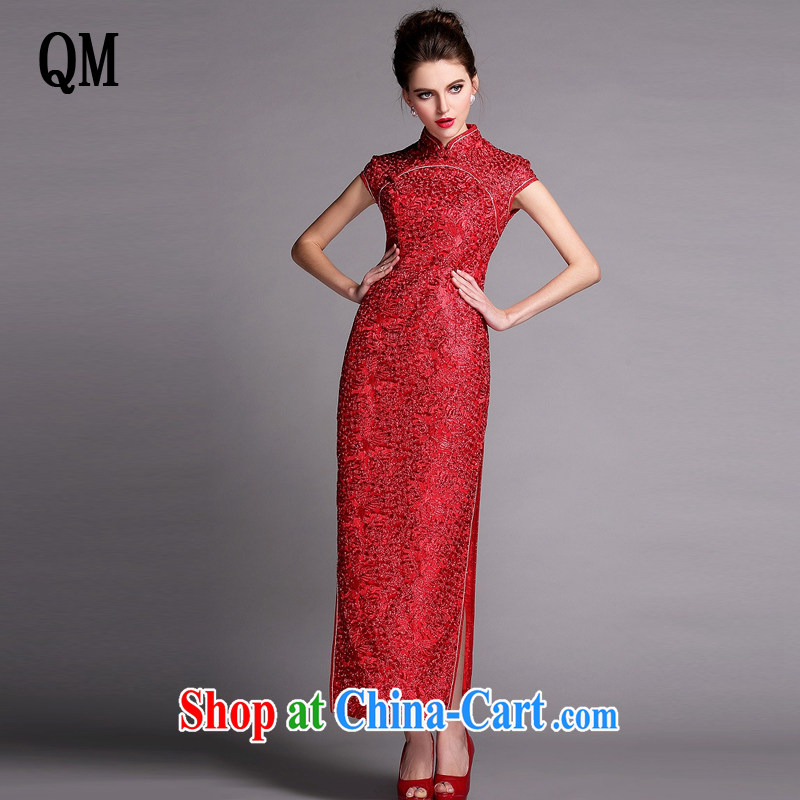 Shallow end improved stylish Heavy Industry beauty banquet long dresses wedding dress toast XWG serving 140,507 red XXL