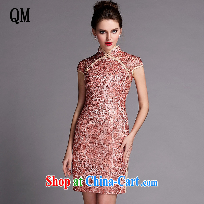 Shallow end improved stylish and cultivating banquet short dresses wedding dress toast XWG serving 140,503 gold XL