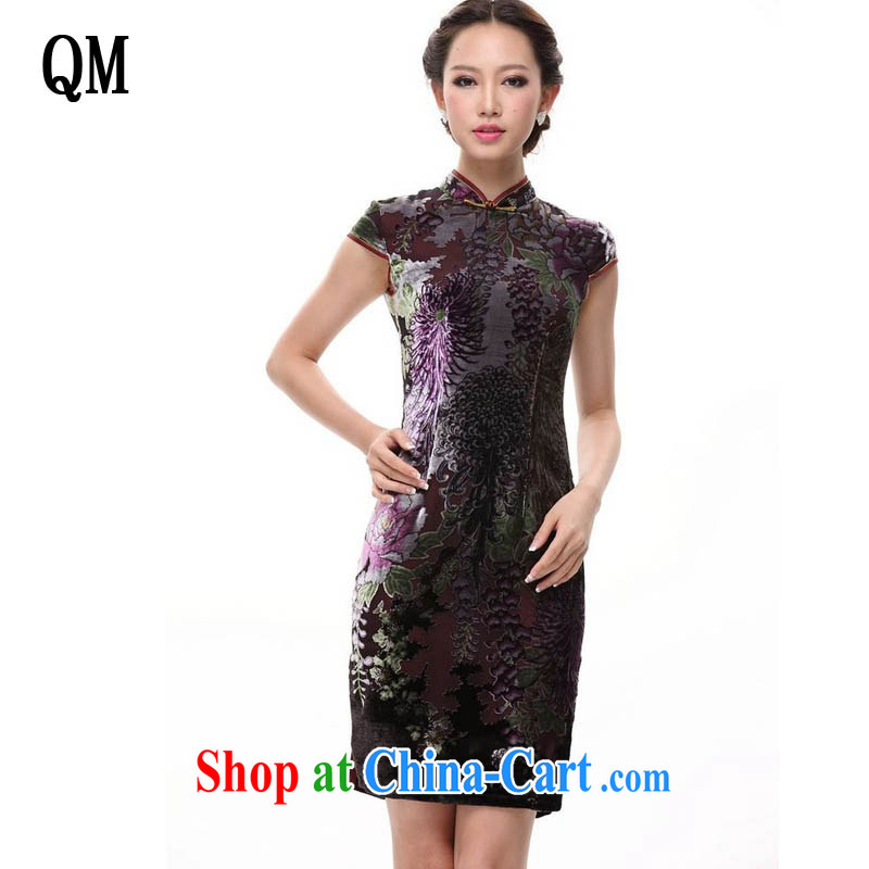 The end is improved and stylish silk retro large code dos santos mother Silk Cheongsam dress XWG 082 - 3 color XXXXL